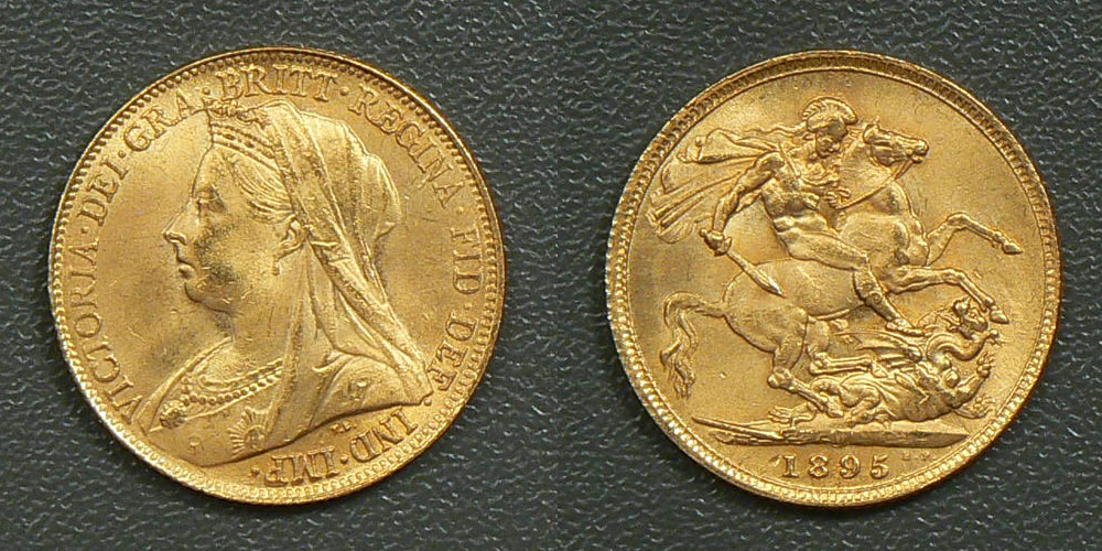 Counterfeit gold sovereigns