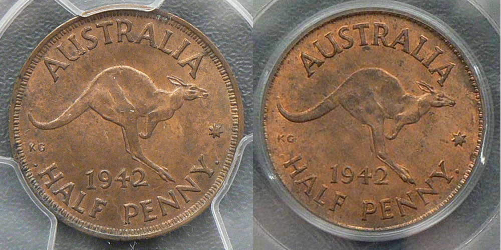 1942-I halfpenny long denticles variety