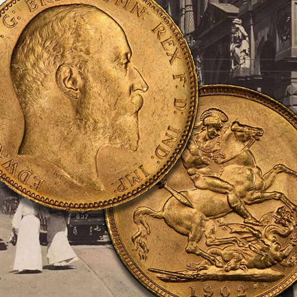 Sovereign rarities from Edward VII, ranked from top to bottom