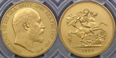 1902 Five Pound values