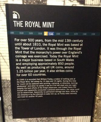 English coins at Tower Hill