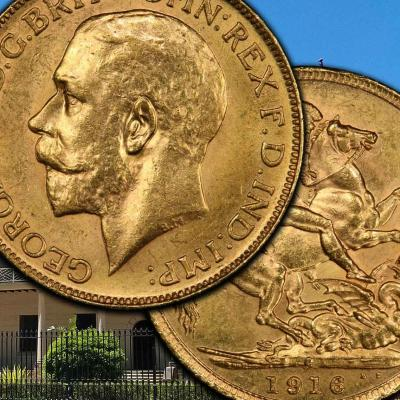 Sovereign rarities from George V, ranked from top to bottom