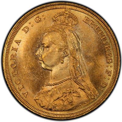 Jubilee head gold sovereign varieties
