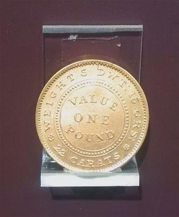 1852 cracked die Adelaide Pound