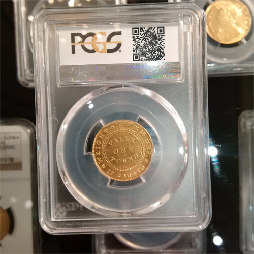 1852 Pound cracked die PCGS AU58