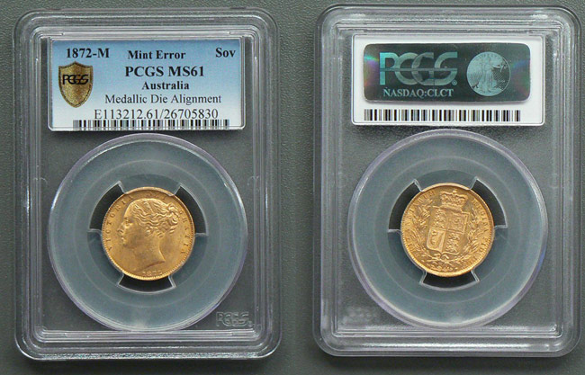PCGS-graded sovereign