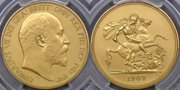 1902 Proof Five Pound