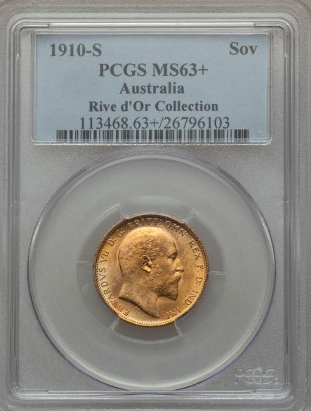1910 sovereign Rive d'Or Collection