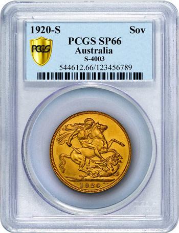 1920S Sovereign PCGS SP66