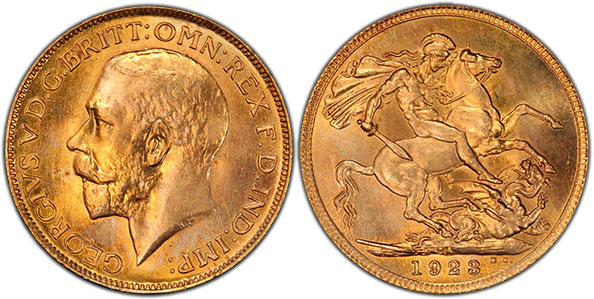 1923 SA sovereign