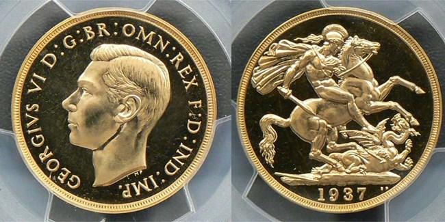 1937 gold two pound