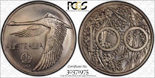 1967 Swan dollar