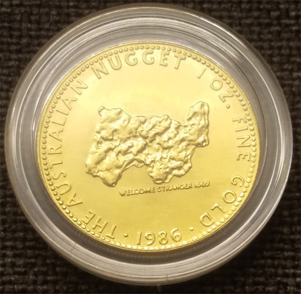 One ounce pattern coin