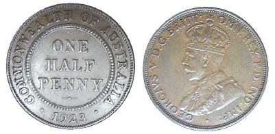 Real 1923 half penny