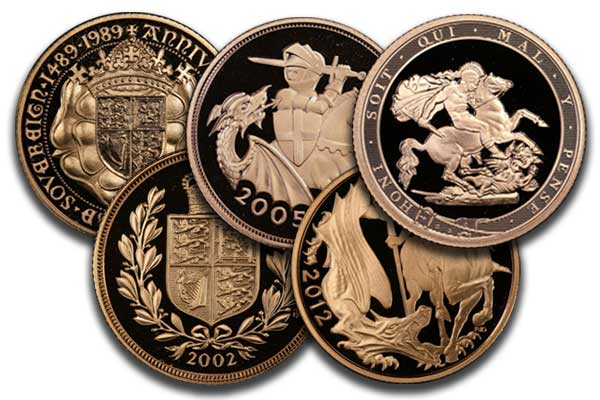 Modern gold sovereigns
