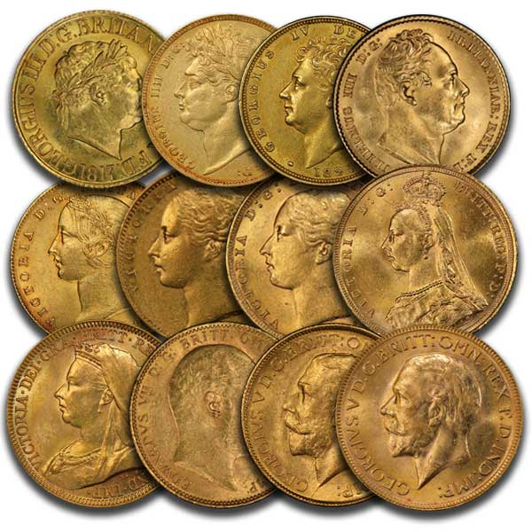 Gold sovereigns monarch