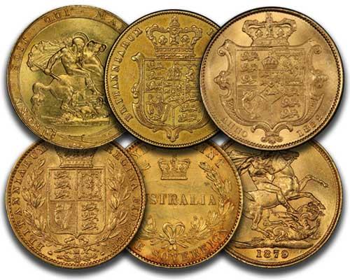 Gold sovereign reverses