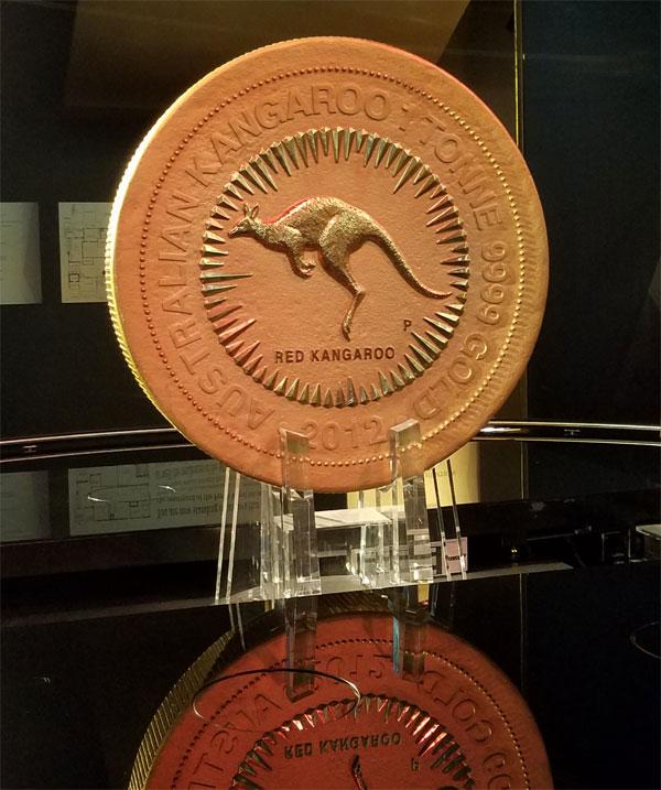 1 tonne Perth Mint coin