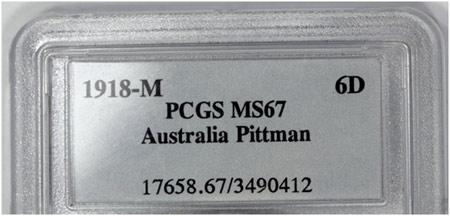 1918M Pittman Sixpence