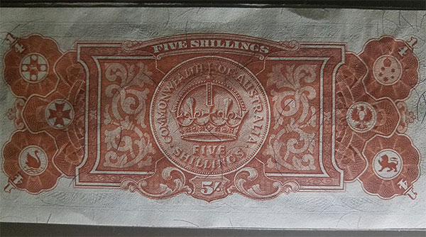 Pattern five shilling banknote