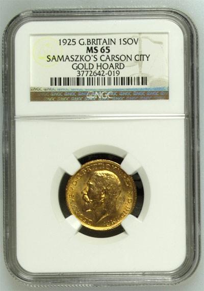 1925 Gold Sovereign Samaszko