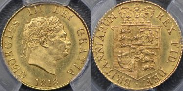 1818 Half Sovereign