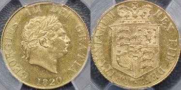 1820 Half Sovereign