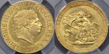 1820 Sovereign with small date