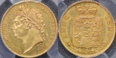 1824 Half Sovereign