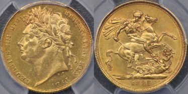 1825 Laureate Head Sovereign