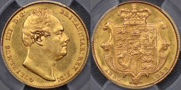 1832 Sovereign Second Bust