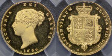 1839 Proof Half Sovereign
