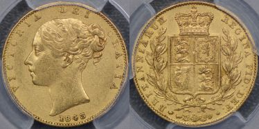 1843 Broad Shield Sovereign