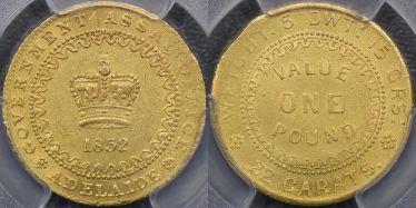 1852 Type II Adelaide Pound