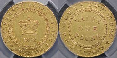 1852 Type I Adelaide Pound