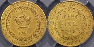 1852 Adelaide Pound Type II