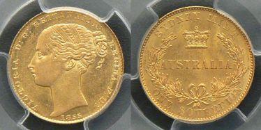 1855 Sydney Mint Sovereign