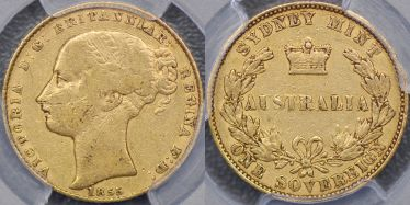 1855 Sydney Mint Sovereign
