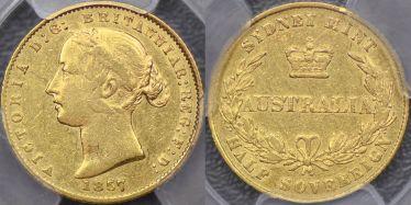 1857 Sydney Mint Sovereign
