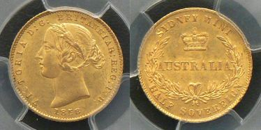 1858 Sydney Mint Half Sovereign