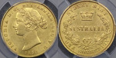 1858 Sydney Mint Sovereign