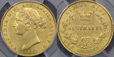 1858 Sydney Mint Sovereign