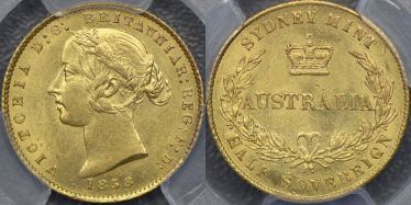 1858 Sydney Mint Half Sovereign
