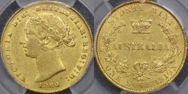 1860 Sydney Mint Sovereign