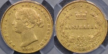 1861 Sydney Mint Sovereign
