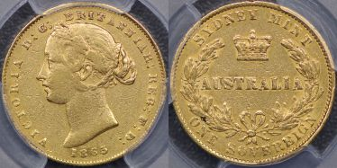 1863 Sydney Mint Sovereign