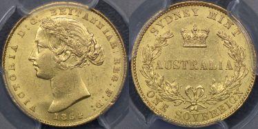 1864 Sydney Mint Sovereign