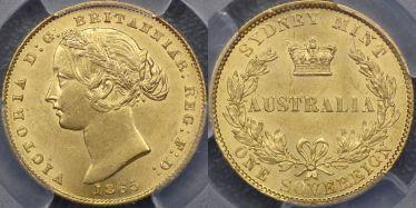1865 Sydney Mint Sovereign