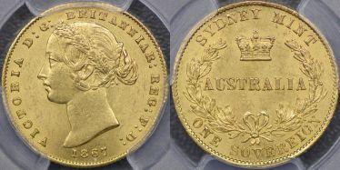 1867 Sydney Mint Sovereign