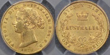 1870 Sydney Mint Sovereign
